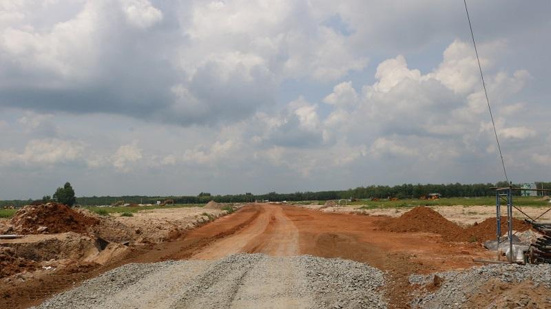 Một dự án đất nền Bàu Bàng đang hoàn thiện hạ tầng trước khi mở bán