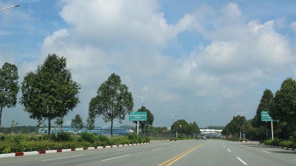 Một tuyến đường khu công nghiệp Bàu Bàng