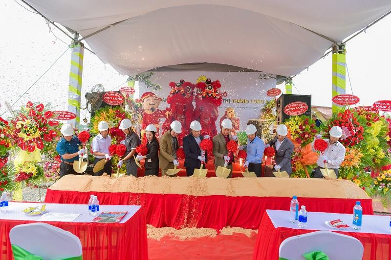 Địa ốc Đất Vàng vừa tổ chức lễ động thổ dự án Thăng Long Central City